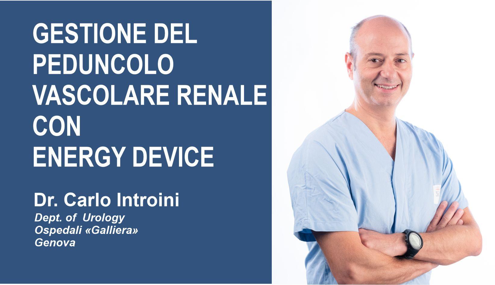 "Introductory Image to ""Gestione del Peduncolo Vascolare Renale con Energy Device"""